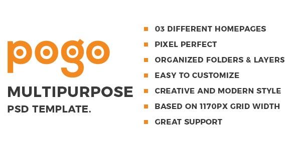 Pogo - Multipurpose PSD Template - Corporate Photoshop