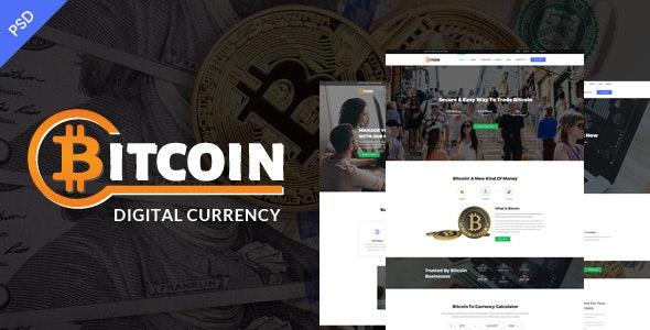 Bitcoin PSD Template - Corporate Photoshop
