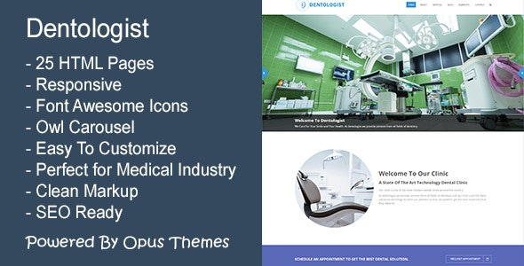 Dentologist - Responsive Template for Medical and Dental Industry - Health & Beauty Retail