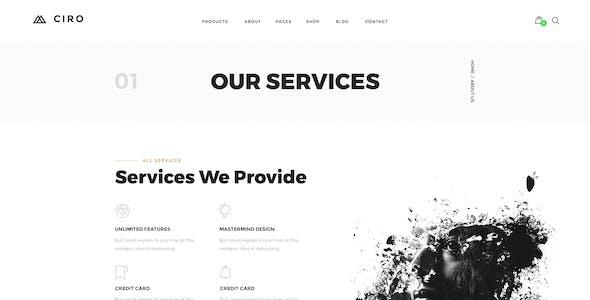 Ciro - Creative Agency & Portfolio PSD Template