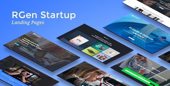 Startup HTML Landing Pages