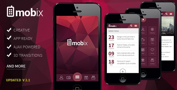 Mobix - HTML Mobile Template - Mobile Site Templates