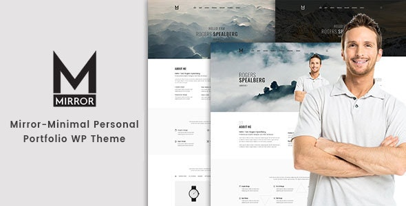 Mirror - Minimal Portfolio WordPress Theme - Portfolio Creative
