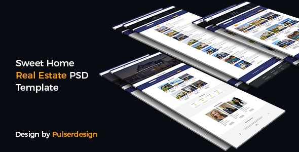 Sweet Home Real Estate-PSD Template - Photoshop UI Templates