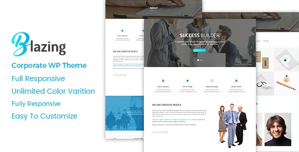 Blazing - Corporate WordPress Theme - Business Corporate