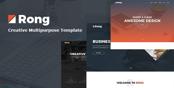 Rong - Creative Business HTML5 Template - Portfolio Creative