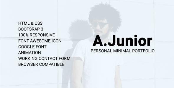 A.Junior Personal/Minimal/Portfolio Template - Personal Site Templates