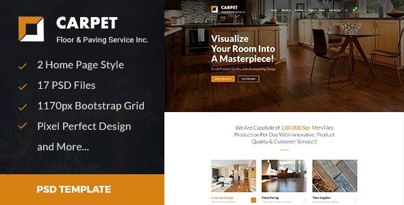 CARPET - Flooring, Paving & Tiling PSD Template - Business Corporate