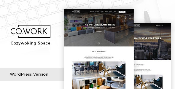 CoWork - Open Office & Creative Space WordPress Theme - Business Corporate
