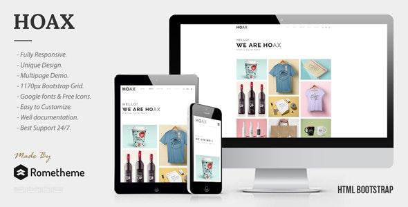 HOAX - Creative Multipurpose HTML Template - Portfolio Creative