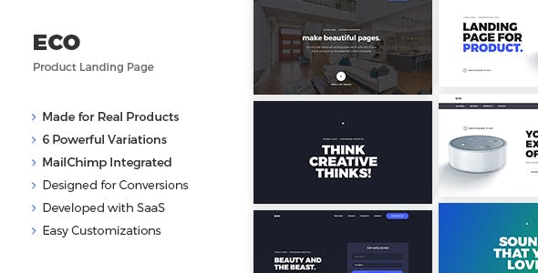 Eco - Product Landing Page by maxgrids
