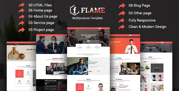 Flame - Multipurpose Corporate, Business, Agency HTML5 Template - Corporate Site Templates