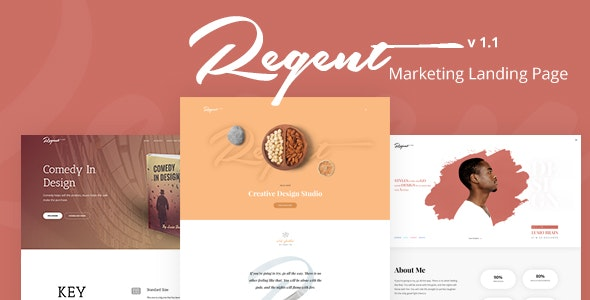 Regent - Multipurpose Marketing Landing page - Landing Pages Marketing
