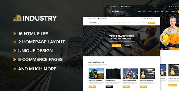 Industry - Minimal factory HTML Template