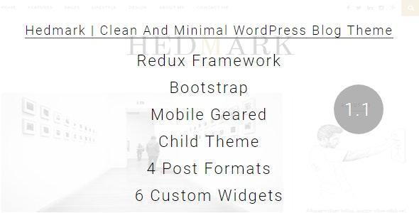 Hedmark | Clean & Minimal Responsive WordPress Blog Theme - Personal Blog / Magazine