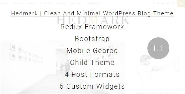 Hedmark | Clean & Minimal Responsive WordPress Blog Theme