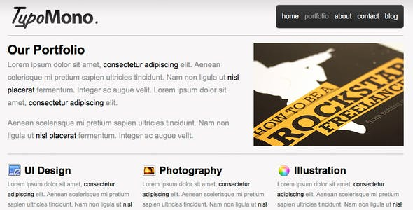 TypoMono - Clean HTML Template