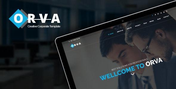 Orva - Corporate PSD Template - Corporate Photoshop