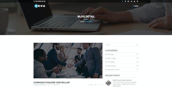 Orva - Corporate PSD Template