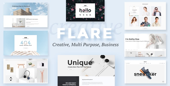 Flare - Multipurpose Business PSD Template - Business Corporate
