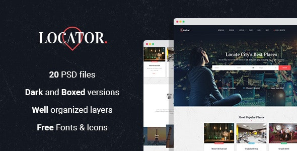Locator - Listing Directory PSD Template - Business Corporate