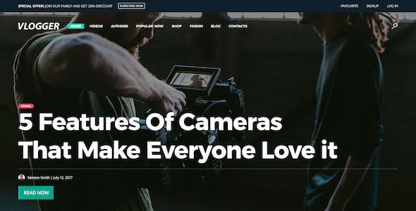 Vlogger - Video Website Template