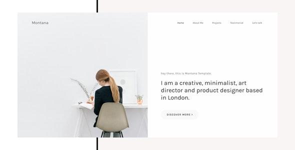Montana - Minimal Portfolio HTML Template - Portfolio Creative
