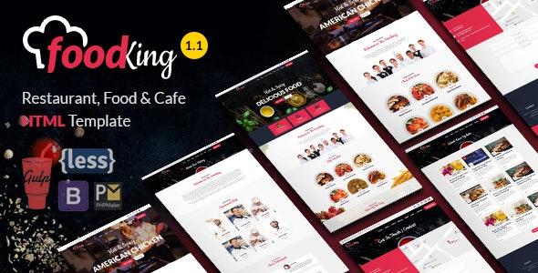 Food King - Restaurant, Food & Cafe HTML Template - Restaurants & Cafes Entertainment