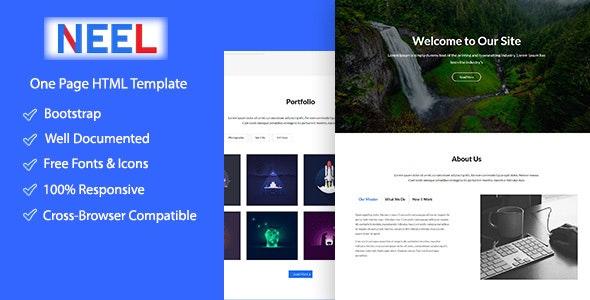 Neel Onepage Creative HTML5 Template - Creative Site Templates