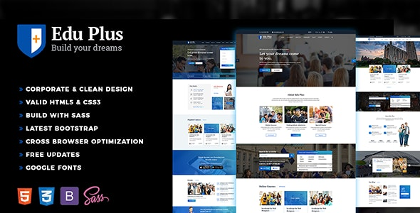 Edu Plus - Education Template - Nonprofit Site Templates
