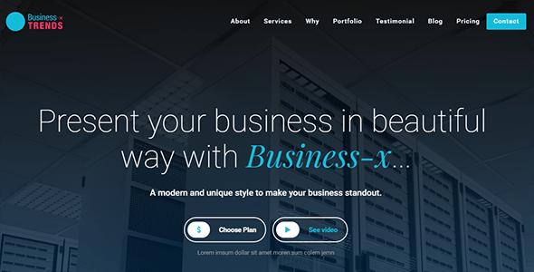 Business-x: WordPress Business Landing Page