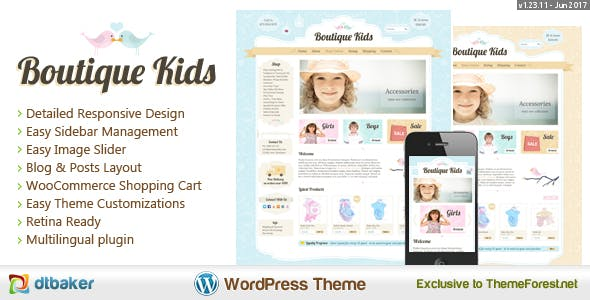 Boutique Kids Creative WordPress Theme
