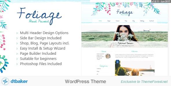 Foliage Watercolor v1.0.11 – Creative WordPress Theme