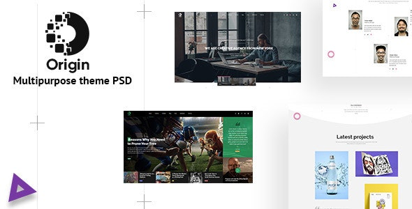 Origin - Minimal and Creative for Multipurpose Psd Template - Creative Photoshop