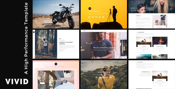 Vivid - Unique Multipurpose Template For Creative Portfolio & Businesses - Creative Site Templates