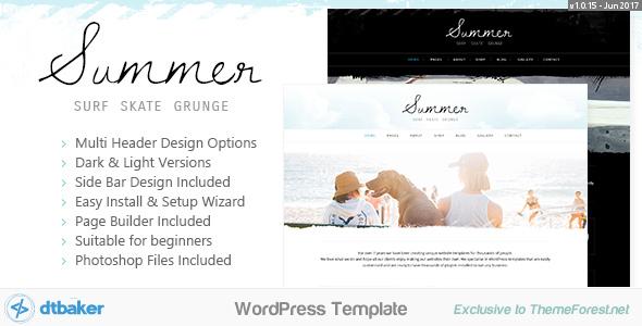 Summer - Surf Beach Grunge - Blog & Shop - Blog / Magazine WordPress