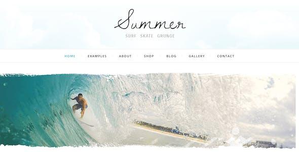 Summer - Surf Beach Grunge - Blog & Shop