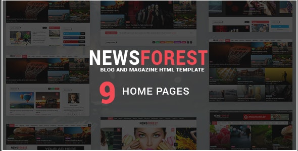 NewsForest -  Magazine / Blog HTML Template + RTL - Entertainment Site Templates