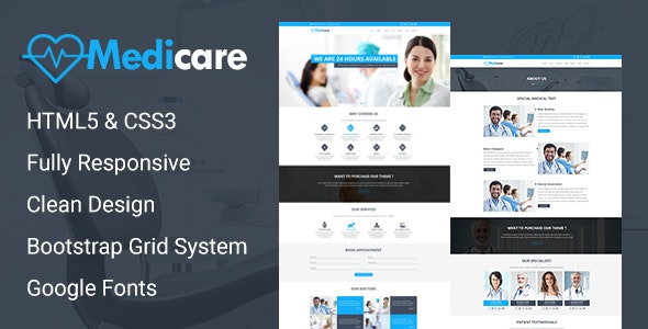 MediCare - Responsive Medical Health Template - Health & Beauty Retail