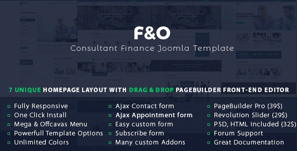 F&O | Consultant Finance Joomla Template by lexuanthanh