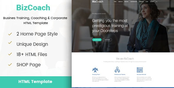 BizCoach - Busines Training, Coaching & Corporate HTML Template - Business Corporate