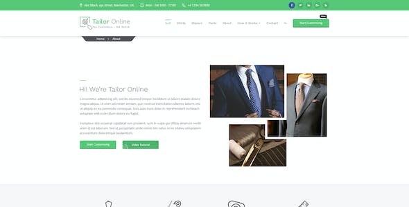 Custom Tailoring and Clothing Store | Tailors Online  PSD