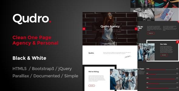 Qudro – One Page Agency & Portfolio - Creative Site Templates
