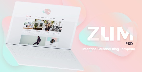 ZUM - Interface Personal Blog PSD Template - Personal Photoshop