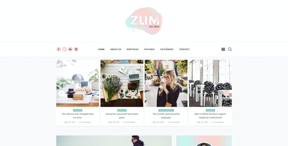ZUM - Interface Personal Blog PSD Template