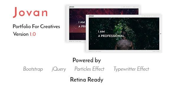 Jovan - Responsive Portfolio Template - Portfolio Creative