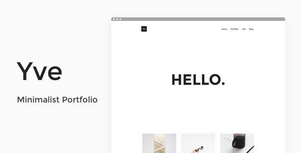 Yve - Minimalist Portfolio Theme - Portfolio Creative