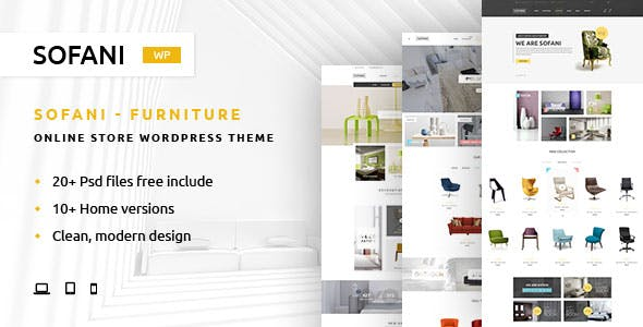 Sofani - Furniture Store WooCommerce WordPress Theme