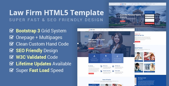 Law Firm - Lawyer, Attorney Business  HTML5 Site Template - Business Corporate