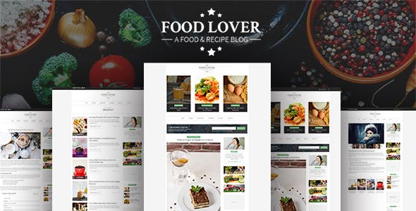 FOOD LOVER -PSD Template